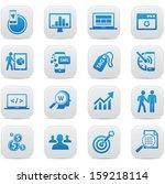 seo concept buttons blue... | Shutterstock .eps vector #159218114