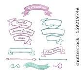 beautiful watercolor elements... | Shutterstock .eps vector #159219746