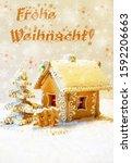 german  merry christmas ...   Shutterstock . vector #1592206663