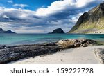 haukland beach lofoten norway | Shutterstock . vector #159222728