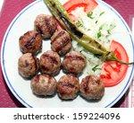 turkish meatball   Shutterstock . vector #159224096
