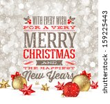 christmas greetings and... | Shutterstock .eps vector #159225443