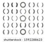 set of different black and... | Shutterstock .eps vector #1592288623