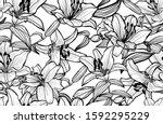 elegant seamless pattern with... | Shutterstock .eps vector #1592295229