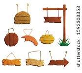 cartoon wooden arrows...