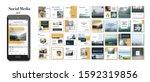 social media pack posts for...   Shutterstock .eps vector #1592319856