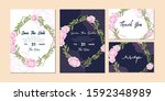 set of elegant wedding... | Shutterstock .eps vector #1592348989