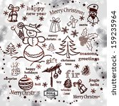 christmas decoration collection ... | Shutterstock .eps vector #159235964