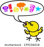 little chicken in very bad and... | Shutterstock .eps vector #159236018