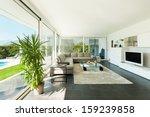 modern villa  interior ... | Shutterstock . vector #159239858