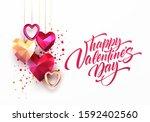 valentines day festive... | Shutterstock .eps vector #1592402560