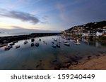morning sunrise at mousehole... | Shutterstock . vector #159240449