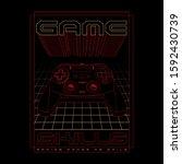 gamer typography  tee shirt... | Shutterstock .eps vector #1592430739