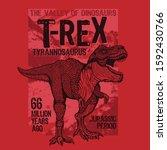 Dinosaur Illustration  Tee...