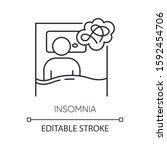 insomnia linear icon. sleep... | Shutterstock .eps vector #1592454706
