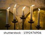 Golden Candelabrum Or Candle...