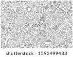 line art vector hand drawn...   Shutterstock .eps vector #1592499433