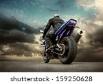 man seat on the motorcycle... | Shutterstock . vector #159250628