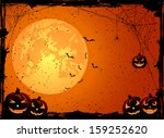 halloween night background with ... | Shutterstock . vector #159252620
