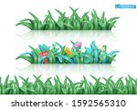 grass and flowers. nature...   Shutterstock .eps vector #1592565310
