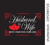wedding quotes and slogan good... | Shutterstock .eps vector #1592584723