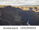 View Of Sunlit Cliffs Of The...