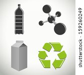 vector plastics and recycling... | Shutterstock .eps vector #159260249