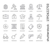 simple set of law and justice... | Shutterstock .eps vector #1592622703