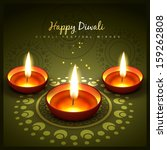 beautiful diwali greeting... | Shutterstock .eps vector #159262808