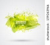 vector figured brush strokes... | Shutterstock .eps vector #159263966