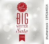 vector winter sale poster with... | Shutterstock .eps vector #159264014