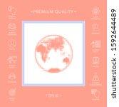 earth   halftone logo. graphic... | Shutterstock .eps vector #1592644489