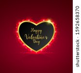 happy valentine's day with... | Shutterstock .eps vector #1592658370