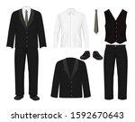 elegant men suit  vector... | Shutterstock .eps vector #1592670643