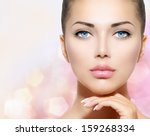 beauty portrait. beautiful spa... | Shutterstock . vector #159268334