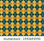 ottoman mosque window vector... | Shutterstock .eps vector #1592693950