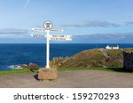 Signpost Land S End Cornwall U...