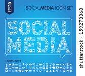 social media concept vector... | Shutterstock .eps vector #159273368
