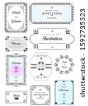 collection  of ornate vector... | Shutterstock .eps vector #1592735323