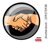 hand shake  shaking hands... | Shutterstock .eps vector #159273938