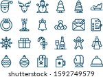 set christmas icons  ny  24 | Shutterstock .eps vector #1592749579
