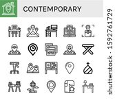 set of contemporary icons. such ...