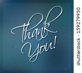 thank you card on blue... | Shutterstock .eps vector #159279950