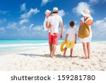 back view of a happy family on... | Shutterstock . vector #159281780