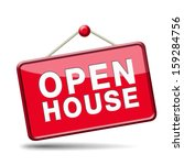 Open House Sign Banner Or...