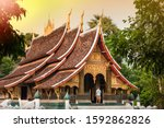 Elegant ancient buddhist temple ...