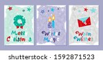 set of creative holiday...   Shutterstock .eps vector #1592871523
