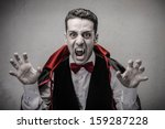 Man Dressed Up As Dracula For...