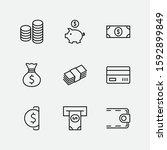 set of money related vector... | Shutterstock .eps vector #1592899849