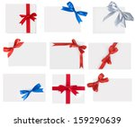 collection paper with a bow  | Shutterstock . vector #159290639